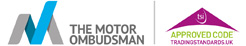 The Motor Ombudsman and Trading Standards Approved logos
