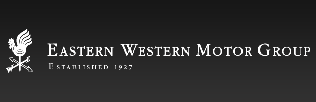 Eastern Western Motor Group black and white rectangular logo