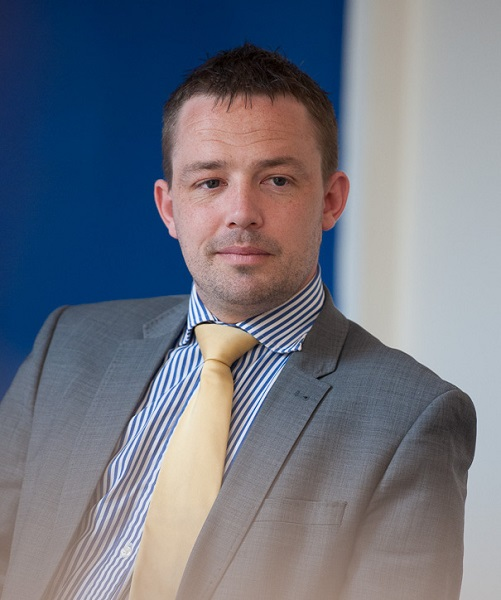 Lee Gurton, Head of Call Centre Operations, AutoProtect, man in suit and tie