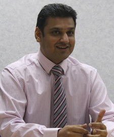 Sohail Malik, IT Sytems and Infrastructure Manager, business man in shirt and tie