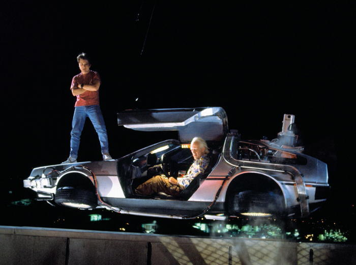 Mart McFly and the Doc with Delorean