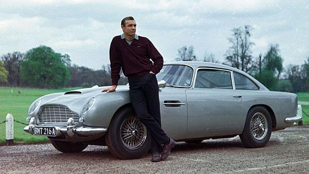 James Bond with Aston Martin