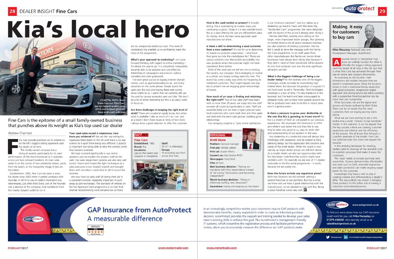 AutoProtect | Motor Trader Feature Kia\'s local hero