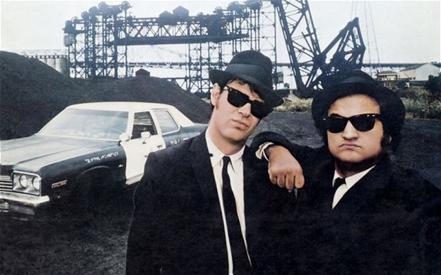 The Blues Brothers with Bluesmobile